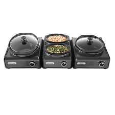 Crock-Pot Hook-Up Connectable System 3-Piece Set, (Metallic Charcoal) (Hookup Crock Pot compare prices)