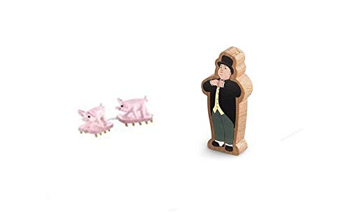 Fisher-Price Thomas & Friends Wooden Railway #Y4474 - Replacement Pigs and Sir Top ham Hat