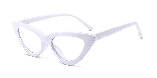 TIANLIANG04 Sol De De Gafas Diseño Mal Ojo Mujer C10 Matices De Clear White Gafas Blanco Hembra Gato Sol Gafas Gafas Sexy C17 Amarillo De Uv Vintage 7qnxXwrKa7