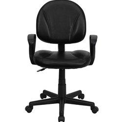 Flash Furniture BT-688-BK-A-GG Mid-Back Black Leather Ergono
