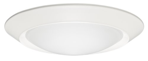Juno Lighting 6101-WH 6-Inch Beveled Frame with Frosted Dome Lens with White Trim -
