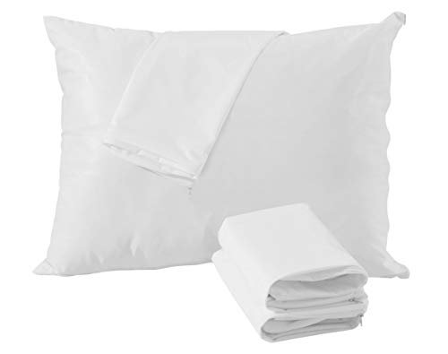 4 Pack Pillow Protectors 100% Waterproof Standard Anti Allergy Breathable Membrane 20x26