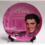 Elvis Presley Collector Plate Pink