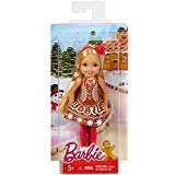 - Barbie Christmas Chelsea Doll in Gingerbread Dress