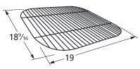 Chrome Grid Cooking Wire Steel (Music City Metals 44281 Chrome Steel Wire Cooking Grid Replacement for Gas Grill Models Aussie 4280 and Aussie 4280-0A113)
