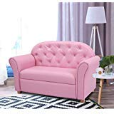 Kids Princess Armrest Lounge Couch Chair Sofa Children Toddler Gift Flip Open Loveseat Armchair Bed Sleeper Room Furniture BeUniqueToday ()