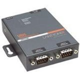 Lantronix 2 Port Serial (RS232/ RS422/ RS485) to IP Ethernet Device Server - US Domestic 110 VAC by Lantronix, Inc