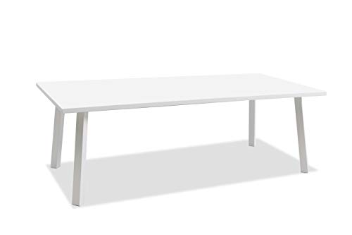 Whiteline Modern Outdoor Living DT1593-WHT Rio Dining Table, White