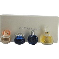 VAN CLEEF VARIETY by Van Cleef & Arpels Gift Set for WOMEN: 4 PIECE WOMENS VARIETY WITH ORIENS EAU DE PARFUM .23 OZ & FEERIE EAU DE PARFUM .23 OZ & FIRST EDT .17 OZ & MIDNIGHT IN PARIS EDT .14 OZ AND ALL ARE MINIS