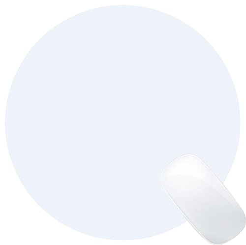InterPro Leather White Mouse Pad with Synthetic Non Slip Base