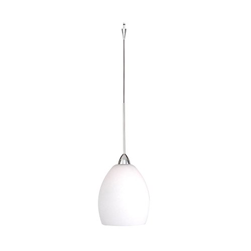 (WAC Lighting QP524-WT/CH Sarah Quick Connect Pendant with White Shade and Chrome Socket Set)
