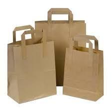 MASTERLINE de papel Kraft SOS bolsas - Asas Planas ...