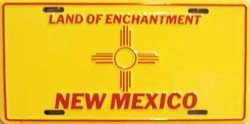 (New Mexico State Flag Aluminum Automotive Novelty License Plate Tag)