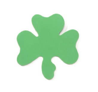 Lucky Green Shamrock or Clover Shaped Foamies Foam Cutouts for St Patrick's Day Crafts 36pcs (3 Packages of 12 (Shamrock Craft)