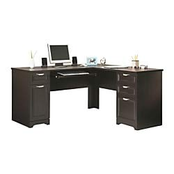 Realspace Magellan L-Shaped Desk, Espresso (Realspace Magellan Performance Collection L Desk Espresso)