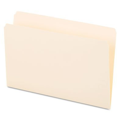File Folders, Straight Cut, One-Ply Top Tab, Legal, Manila, 100/Box, Sold as 100 Each