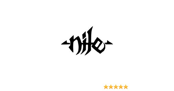 Amazon com nile band white logo vinyl decal sticker automotive
