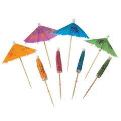 Multi-Color Cocktail Parasol Stirrers Umbrellas - 144 -