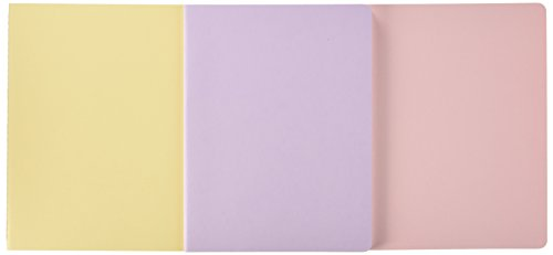 Moleskine Cahier Journal (Set of 3), Extra Large, Ruled, Persian Lilac, Frangipane Yellow, Peach Blossom Pink, Soft Cover (7.5 x ()
