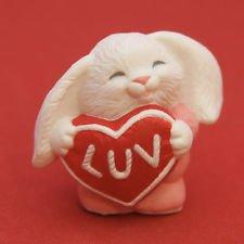 Hallmark Merry Miniatures Valentine's 1991 Bunny LUV