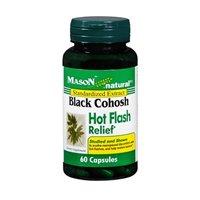Mason Vitamins Black Cohosh Hot Flash Relief Capsules, 60 Count