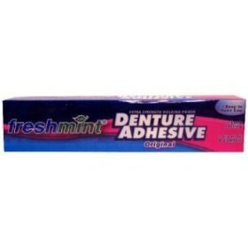 Freshmint NWI-DA2-72 Freshmint Extra Strength Denture Adhesive original Toothpaste, 72 per Case