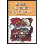 Writing the Modern Research Paper 9780321107541
