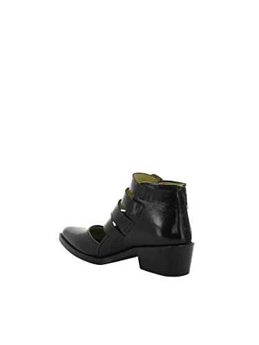 Bottines AJ617BLACK Femme Noir TOGA PULLA Cuir qOwXvEv6x
