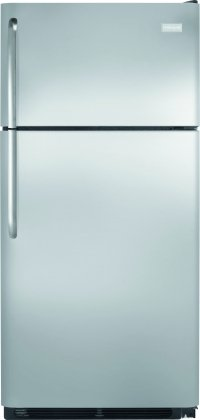 Frigidaire FFTR1814QS Top Freezer Refrigerator with 18.0 cu. ft. Capacity in Stainless Steel by Frigidaire