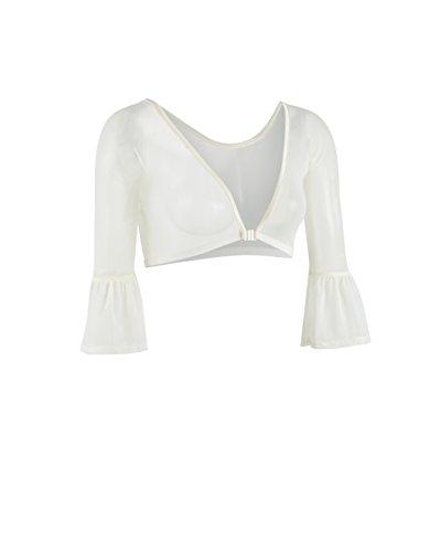 - Sleevey Wonders Women's Bell 3/4 Length Slip-on Mesh Sleeves XL Ivory