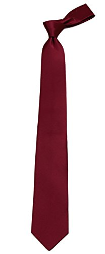 B-ADF-7 - Boys - Burgundy - Solid Necktie by Buy Your Ties