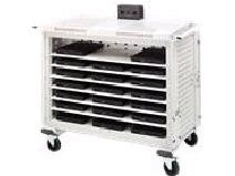 Bretford LAP20ULH-CT Basics LAP20ULH-CT Intelligent Laptop Cart - 7 Shelf - 4 x 5 Caster - Steel - 43 x 27.38 x 45
