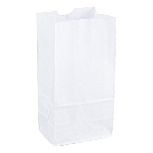 Duro Grocery/Lunch Bag, Kraft Paper, 4 lb Capacity, (100 Count) (White) -