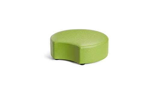 Logic Furniture MOONCCU06 Moon 2 Crescent Ottoman, 6'', Cucumber by Logic Furniture