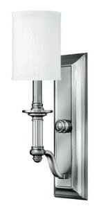Hinkley 4790BN Traditional One Light Wall Sconce from Sussex collection in Pwt, Nckl, B/S, Slvr.finish,