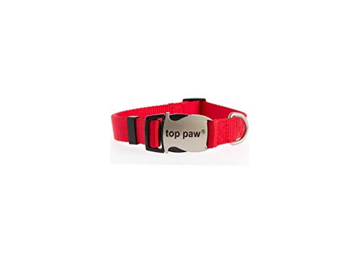 TOP PAW Signature Adjustable Dog Collar Red ()