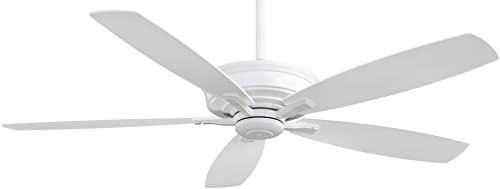 Minka-Aire F696-WH Kafe-XL 60 5-Blade Ceiling Fan Remote Control, White Finish