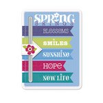 Hello Spring Chipboard Slider (Little Yellow Bicycle)