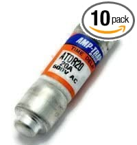 Mersen ATDR20 600V 20A Cc Time Delay Fuse, 10-Pack
