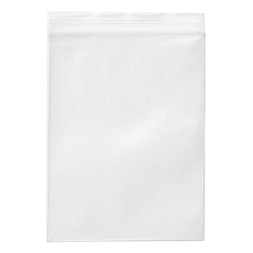 4 x 6-inch 2Mil Clear Reclosable Zipper Poly Ziplock Storage Plastic Bags for Candy Cookies Cards, Pack of 100