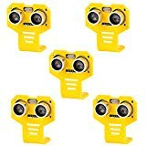 (Seamuing 5pcs HC-SR04 Ultrasonic Module Distance Sensor Kits with 5pcs Yellow Cartoon Mounting Bracket for Servo Arduino UNO MEGA R3 Smart Car Robotics Projects)