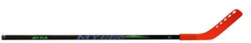 Mylec Jet-Flo Hockey Stick, Neon Orange, Right, (Tapered Hockey Shaft)