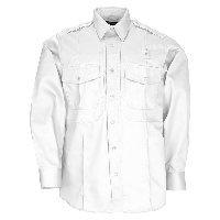 5.11 Men's Class B Twill PDU Long Sleeve Shirt, White, Large-Short - Teflon Treated Twill Shirts