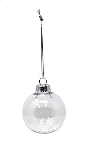 Round Clear Plastic Ball Ornaments