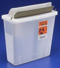 PT# 85121 PT# # 85121- Container Sharps In-Room Mailbox Style Lid ClEar 5qt Ea by, Kendall Company