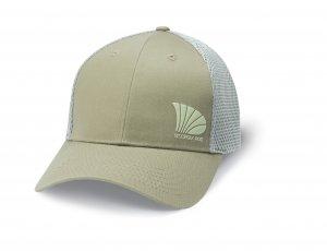 St. Croix Offset Logo Trucker Fishing Cap (Khaki) Khaki Logo Cap