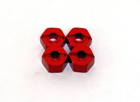 ST Racing Concepts ST3654-12R Aluminum Hex Adapter Traxxas (Red)