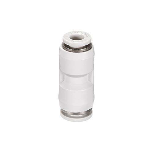 6 mm OD Straight Plastic Union Push to Connect The Tube Assembly Push Lock Adjustment White 2 Pieces Straight Push Connectors 8 mm