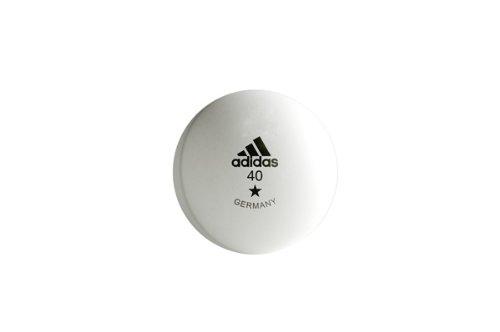adidas 6 Tischtennis-Bälle Training, weiß (AGF-10712) weiß (AGF-10712)