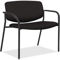 Lorell Made in America Bariatric Guest Chairs with Fabric Seat & Back, 83120 (Black)